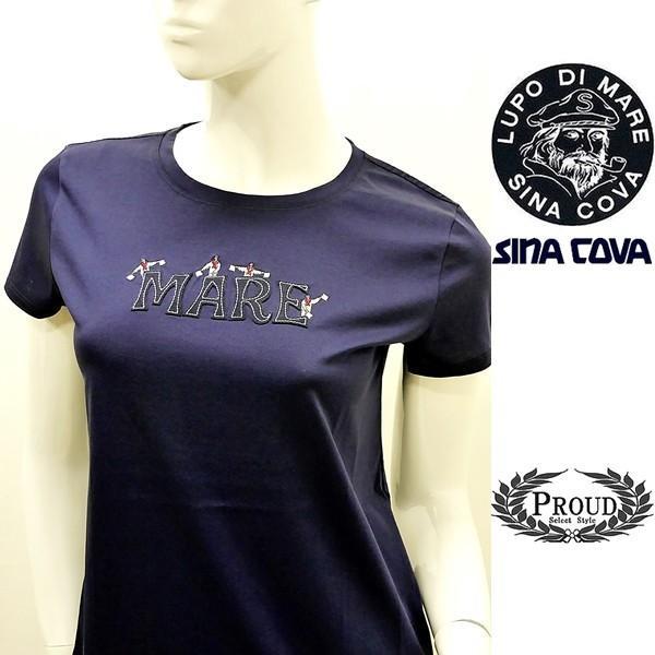 シナコバ レディース¥12000+税 [F]半袖Tシャツ フロントロゴデザイン]80118110 -e            scTYsl 17180520|proud