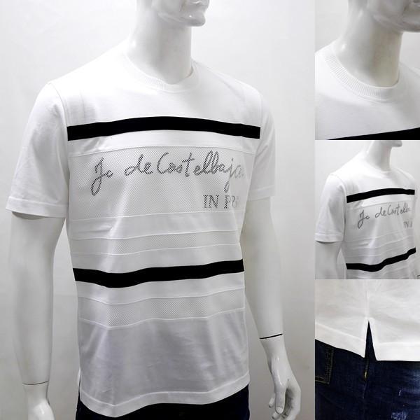 [カステルバジャックアウトレット]¥23000+税 [L]半袖Tシャツ メッシュレイヤード Swiss Cotton Premium]70204031              jcTYsm  21370 proud 03
