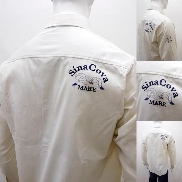 シナコバ 特選品¥26000+税 [L]長袖コールシャツ フロントビュー/バックショットモデル SINACOVA GENOVA STYLE]70902068                 scTYfm 17224100|proud|05
