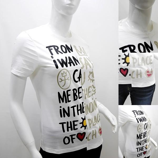 [カステルバジャックレディース特選品]¥19000+税 [11号]半袖Tシャツ フロントパネルロゴアートデザイン]80201085              jcTIsl 22770 proud 03
