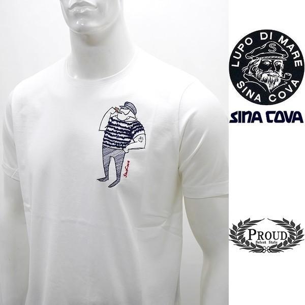シナコバ 特選品¥15000+税 [L]半袖 Tシャツ メンズ クルーネック ニューキャラクターバージョン SINACOVA PORTOFINO] 80208003        scTIsm 18130510|proud