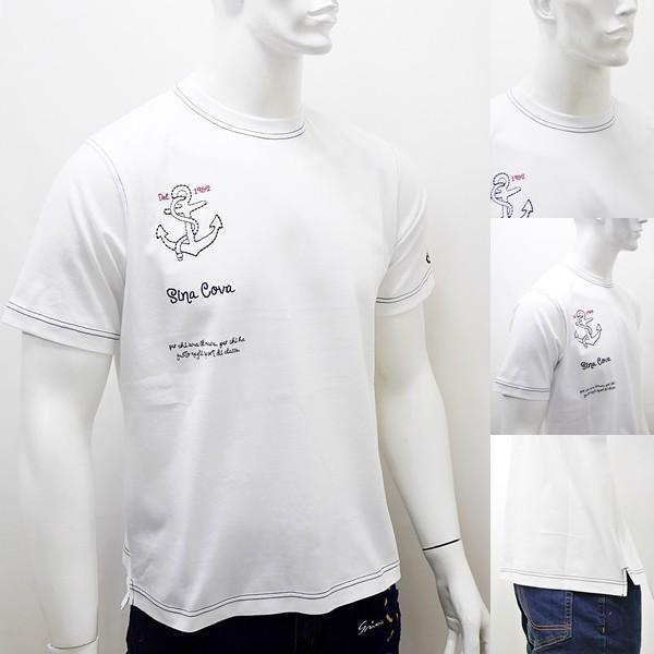 [シナコバ]¥12000+税 [LL]半袖Tシャツ 刺繍ポイントデザインSINACOVA PORTOFINO] 80208038                 scTIsm 18130530|proud|03
