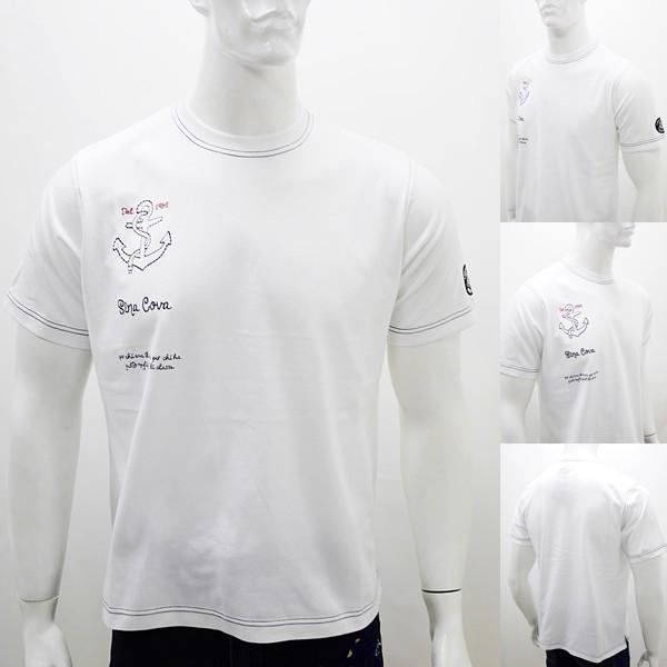 [シナコバ]¥12000+税 [LL]半袖Tシャツ 刺繍ポイントデザインSINACOVA PORTOFINO] 80208038                 scTIsm 18130530|proud|05
