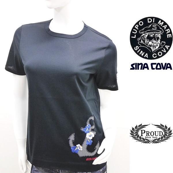 シナコバ レディース 特選品¥15000+税 [11号]半袖 Tシャツ トロピカルデザイン]80208076             scTIsl 18180540|proud