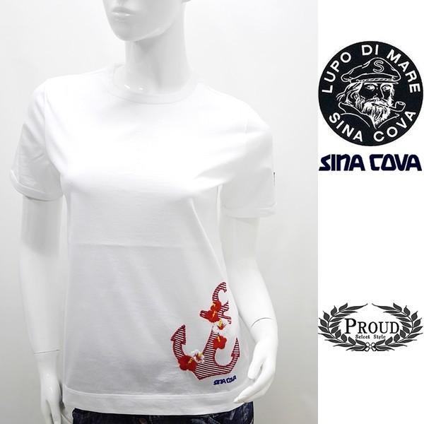 シナコバ レディース 特選品¥15000+税 [9号]半袖 Tシャツ トロピカルデザイン]80208077             scTIsl 18180540|proud