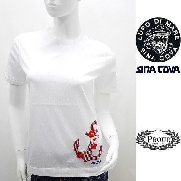 シナコバ レディース アウトレット¥15000+税 [11号]半袖 Tシャツ トロピカルデザイン 80208078             scTIsl 18180540 proud