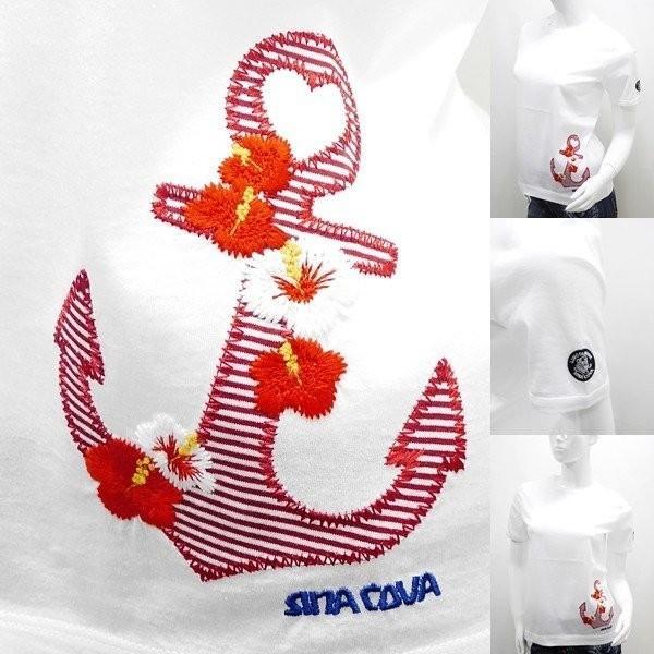 シナコバ レディース アウトレット¥15000+税 [11号]半袖 Tシャツ トロピカルデザイン 80208078             scTIsl 18180540 proud 04