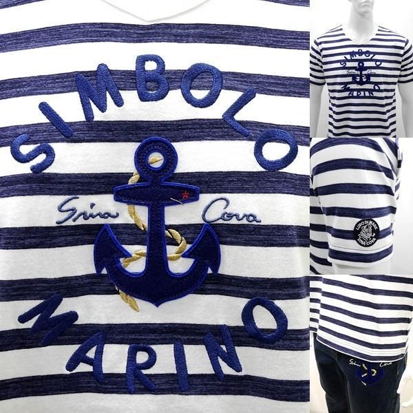 シナコバ 特選品¥21000+税 [LL]半袖Tシャツ マリンボーダースタイル SIMBOLO MARINO SINACOVA GENOVA]80208104                scTIsm 18120560|proud|04