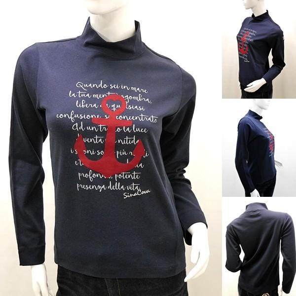 [シナコバレディース特選品]¥15000+税 [11号]ハイネックシャツ フロントキャッチーデザイン] 80802103             scTYfl 17280040   -e|proud|02