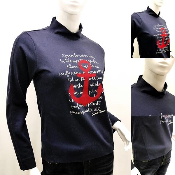 [シナコバレディース特選品]¥15000+税 [11号]ハイネックシャツ フロントキャッチーデザイン] 80802103             scTYfl 17280040   -e|proud|03