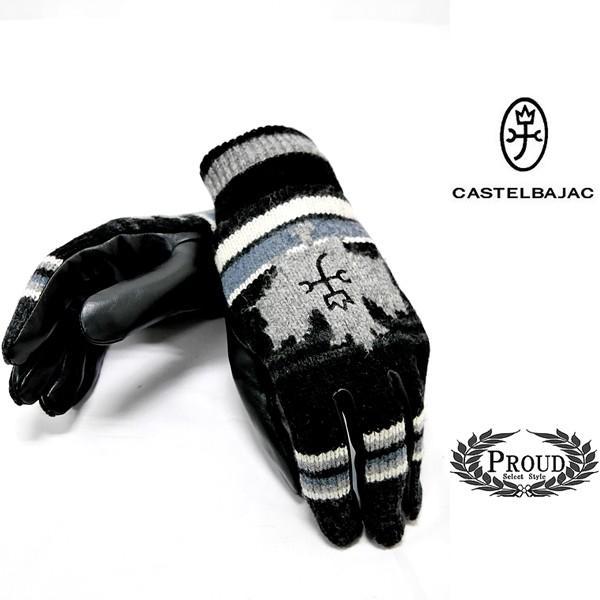 カステルバジャック ¥15000+税 [F]手袋 カジュアルグローブ メンズ ウール牛革コンビ]80822069              jcTIfm 23901|proud