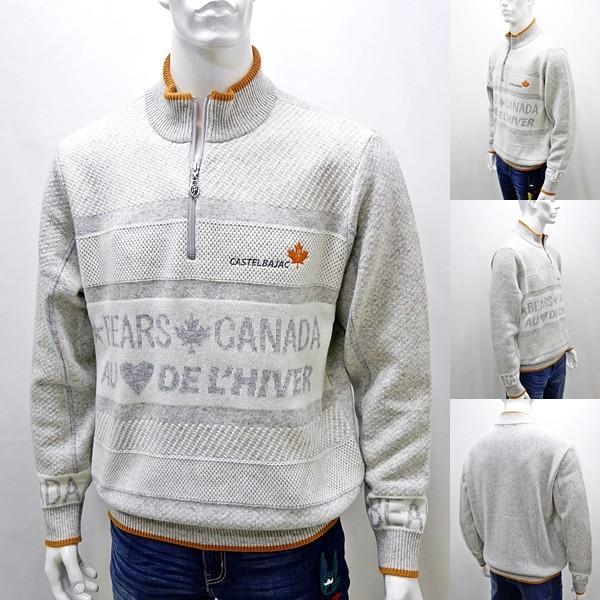 カステルバジャック 特選品¥38000+税 [L]セーター メンズ BEARS CANADA ジャガードチェンジデザイン]80822071              jcTIfm 21980|proud|02