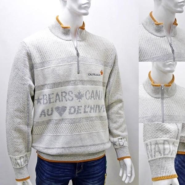 カステルバジャック 特選品¥38000+税 [L]セーター メンズ BEARS CANADA ジャガードチェンジデザイン]80822071              jcTIfm 21980|proud|03