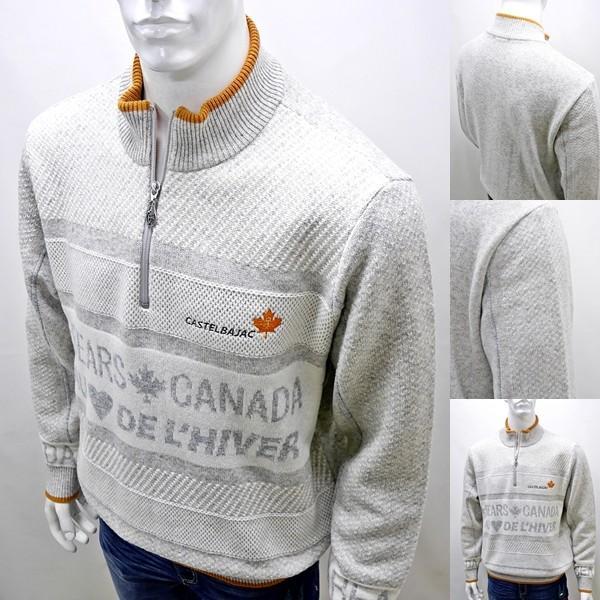 カステルバジャック 特選品¥38000+税 [L]セーター メンズ BEARS CANADA ジャガードチェンジデザイン]80822071              jcTIfm 21980|proud|07