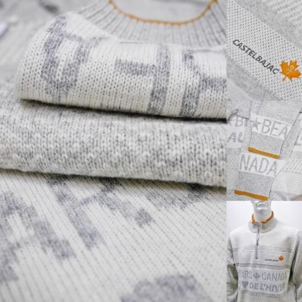 カステルバジャック 特選品¥38000+税 [L]セーター メンズ BEARS CANADA ジャガードチェンジデザイン]80822071              jcTIfm 21980|proud|08