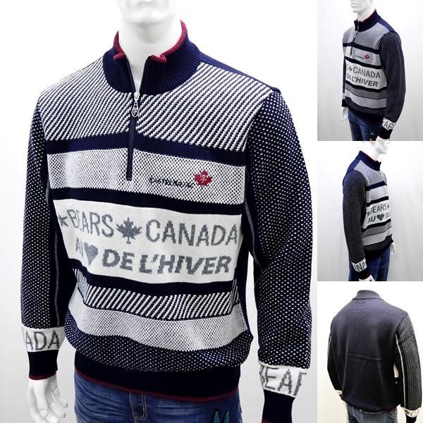 カステルバジャック ¥38000+税 [L]セーター BEARS CANADA ジャガードチェンジデザイン]80822072              jcTIfm 21980|proud|02