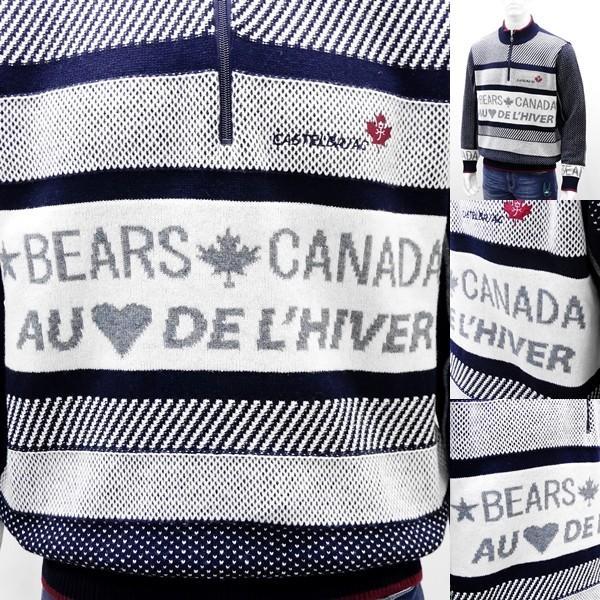 カステルバジャック ¥38000+税 [L]セーター BEARS CANADA ジャガードチェンジデザイン]80822072              jcTIfm 21980|proud|06