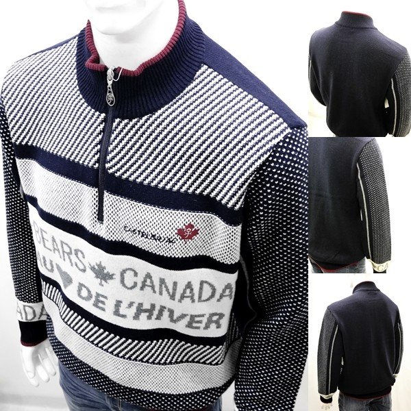 カステルバジャック ¥38000+税 [L]セーター BEARS CANADA ジャガードチェンジデザイン]80822072              jcTIfm 21980|proud|07