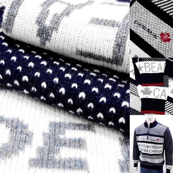 カステルバジャック ¥38000+税 [L]セーター BEARS CANADA ジャガードチェンジデザイン]80822072              jcTIfm 21980|proud|08
