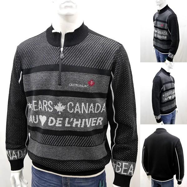 [カステルバジャック]¥38000+税 [L]セーター BEARS CANADA ジャガードチェンジデザイン]80822073              jcTIfm 21980|proud|02