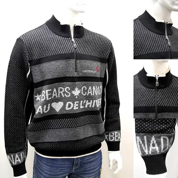 [カステルバジャック]¥38000+税 [L]セーター BEARS CANADA ジャガードチェンジデザイン]80822073              jcTIfm 21980|proud|03