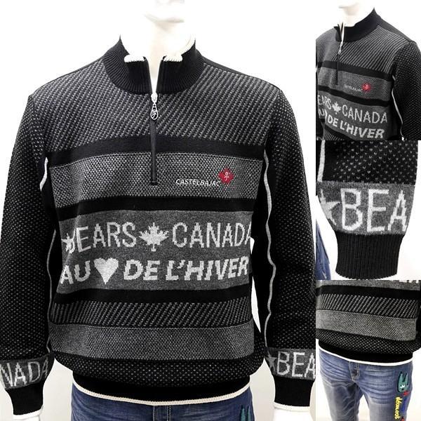 [カステルバジャック]¥38000+税 [L]セーター BEARS CANADA ジャガードチェンジデザイン]80822073              jcTIfm 21980|proud|04