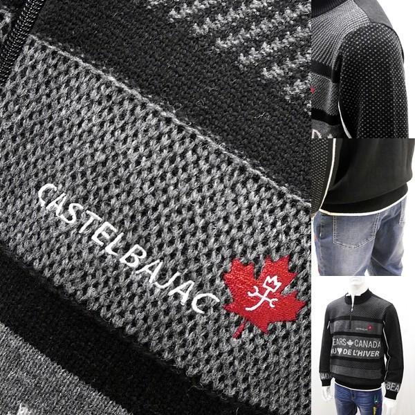 [カステルバジャック]¥38000+税 [L]セーター BEARS CANADA ジャガードチェンジデザイン]80822073              jcTIfm 21980|proud|05