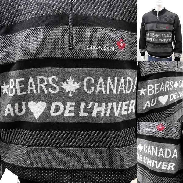 [カステルバジャック]¥38000+税 [L]セーター BEARS CANADA ジャガードチェンジデザイン]80822073              jcTIfm 21980|proud|06