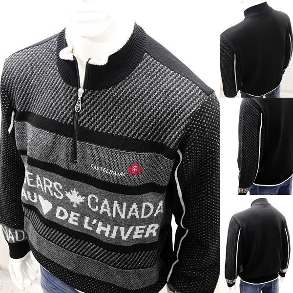 [カステルバジャック]¥38000+税 [L]セーター BEARS CANADA ジャガードチェンジデザイン]80822073              jcTIfm 21980|proud|07