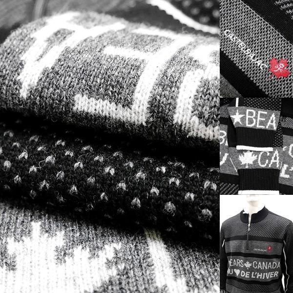 [カステルバジャック]¥38000+税 [L]セーター BEARS CANADA ジャガードチェンジデザイン]80822073              jcTIfm 21980|proud|08
