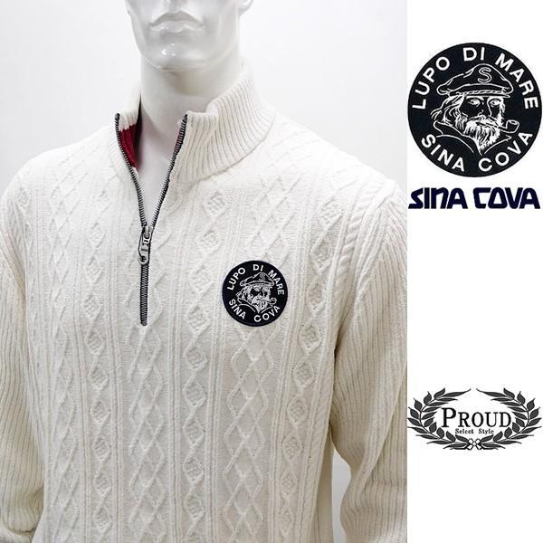 シナコバ ¥36000+税 [LL]セーター ケーブル/アランテクスチャーデザイン SINACOVA SARDEGNA] 80901033                 scTIfm 18212030|proud