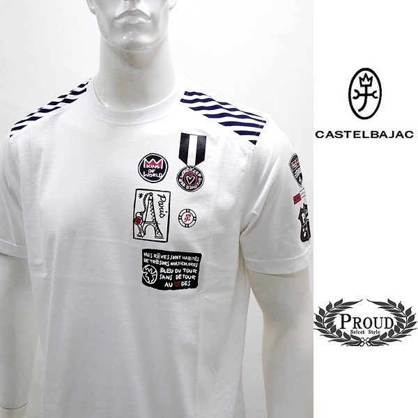カステルバジャック アウトレット ¥20000+税 [L/48]半袖 Tシャツ メンズ KING OF WORLD PARIS Swiss Ctton Premium 90203022  jcTCsm 21070|proud
