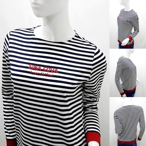 シナコバ レディース ¥15000+税 [9号]長袖 Tシャツ マリンボーダー バスクシャツスタイル 90207009            scTCsl 19180010|proud|02