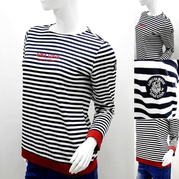 シナコバ レディース ¥15000+税 [9号]長袖 Tシャツ マリンボーダー バスクシャツスタイル 90207009            scTCsl 19180010|proud|04
