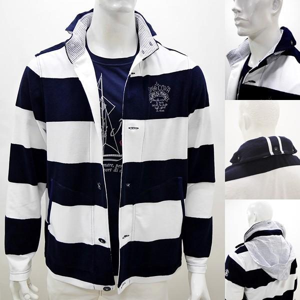シナコバ ¥45000+税 [L] ジャケット メンズ ファブリックチェンジ マリンボーダースタイル SINACOVA SARDEGNA 90207012            scTCm 19113050|proud|04