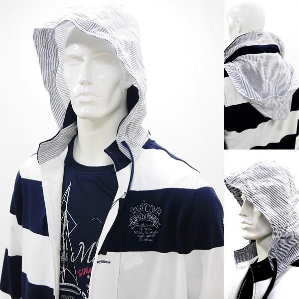 シナコバ ¥45000+税 [L] ジャケット メンズ ファブリックチェンジ マリンボーダースタイル SINACOVA SARDEGNA 90207012            scTCm 19113050|proud|05