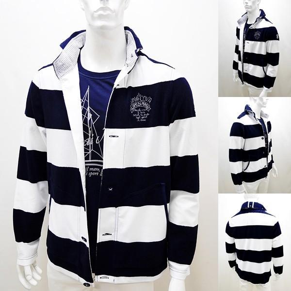 シナコバ ¥45000+税 [LL] ジャケット メンズ ファブリックチェンジ マリンボーダースタイル SINACOVA SARDEGNA 90207013            scTCm 19113050|proud|02