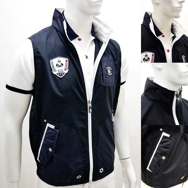シナコバ ¥37000+税 [LL] ゴルフ ベスト メンズ バックショットモデル Dot Air 高通気性素材 SINACOVA INGLESE 90207056  scTCsm 19153510|proud|03
