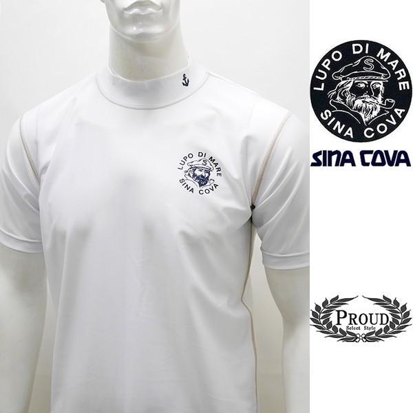 シナコバ ¥13000+税 [LL]半袖 Tシャツ メンズ ラッシュガード UVケア SINACOVA  SARDEGNA 90207068                scTCsm 19111510|proud