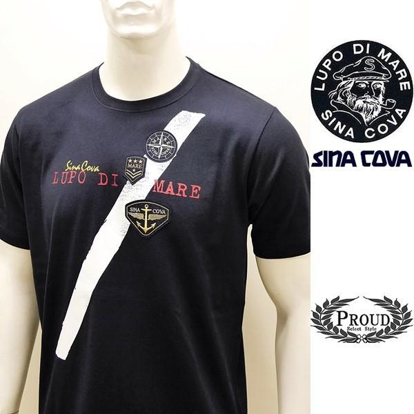 シナコバ ¥13000+税 [L]半袖 Tシャツ メンズ フロントアイコンデザイン SINACOVA SARDEGNA 90207074                scTCsm 19110540|proud