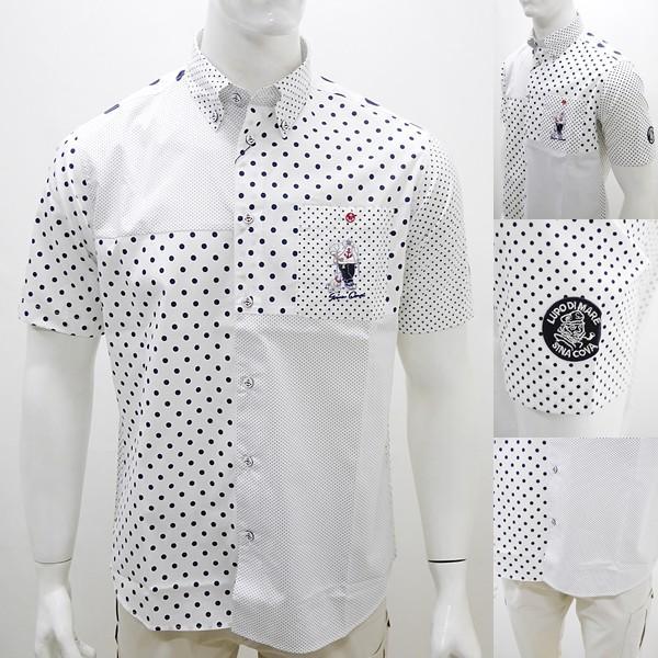 シナコバ ¥23000+税 [L]半袖 シャツ メンズ ドットパターンブロックデザイン SINACOVA GENOVA 90207085      scTCsm19124520|proud|04
