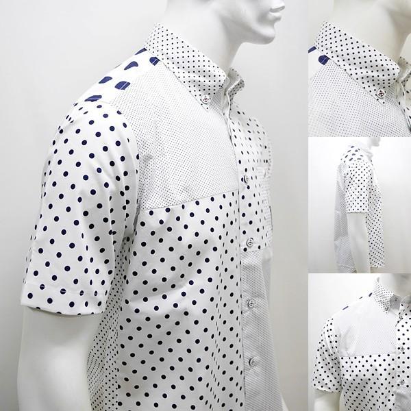 シナコバ ¥23000+税 [L]半袖 シャツ メンズ ドットパターンブロックデザイン SINACOVA GENOVA 90207085      scTCsm19124520|proud|06