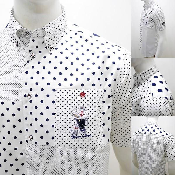 シナコバ ¥23000+税 [L]半袖 シャツ メンズ ドットパターンブロックデザイン SINACOVA GENOVA 90207085      scTCsm19124520|proud|07
