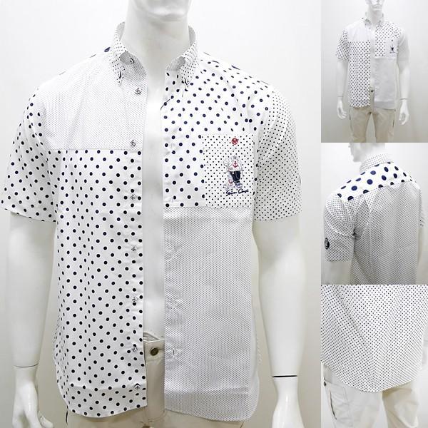 シナコバ ¥23000+税 [L]半袖 シャツ メンズ ドットパターンブロックデザイン SINACOVA GENOVA 90207085      scTCsm19124520|proud|08