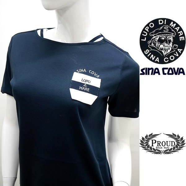 シナコバ レディース ¥15000+税 [11号]半袖 Tシャツ LUPO DI MARE 90207091           scTICs 19180550|proud