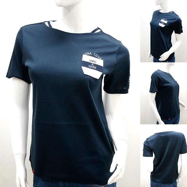 シナコバ レディース ¥15000+税 [11号]半袖 Tシャツ LUPO DI MARE 90207091           scTICs 19180550|proud|02