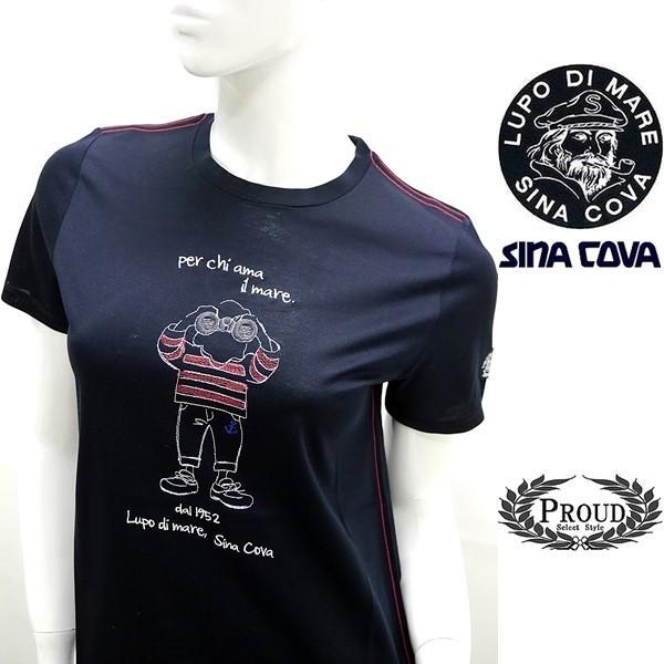 シナコバ レディース アウトレット ¥13000+税 [9号]半袖 Tシャツ per chi ama il mare 90207093            scTICs 19180570|proud