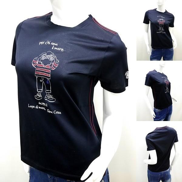 シナコバ レディース アウトレット ¥13000+税 [9号]半袖 Tシャツ per chi ama il mare 90207093            scTICs 19180570|proud|05