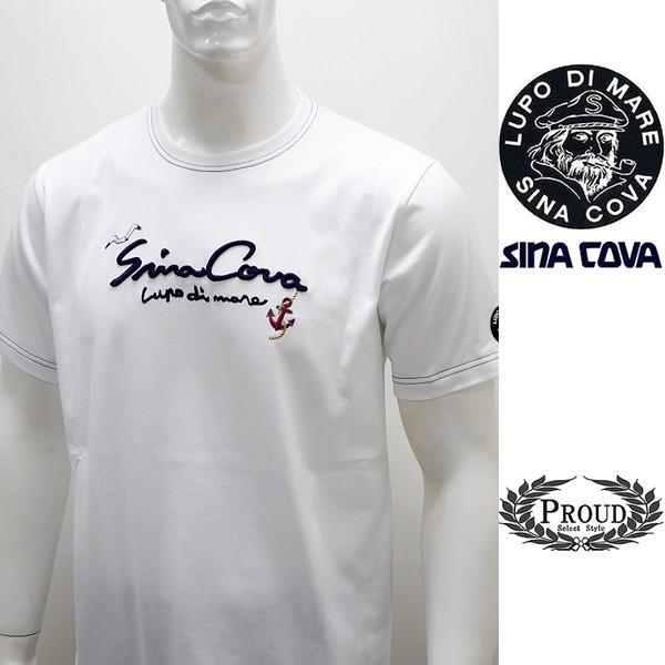 シナコバ ¥12000+税 [L]半袖 Tシャツ メンズ フロントロゴモチーフ SINACOVA  GENOVA  90207100           scTCsm 19120560|proud