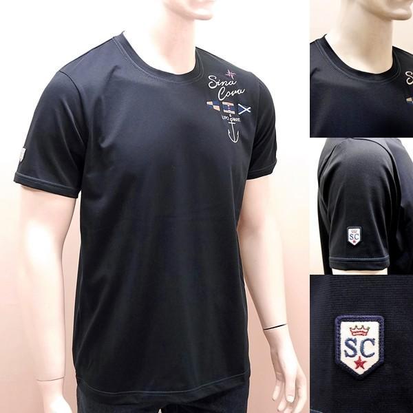 シナコバ ¥16000+税 [L]半袖 Tシャツ メンズ SPACEMASTER-UVケア SINACOVA SARDEGNA 90207102       scTCsm 19110580|proud|03